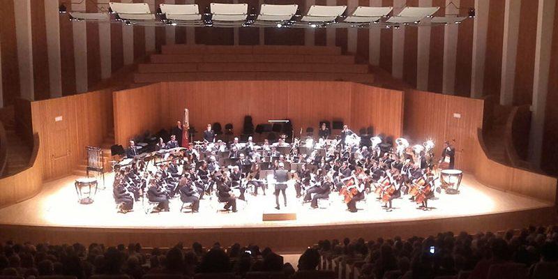 Concierto en el Palau de la Música dirigiendo la Unión Musical Utielana